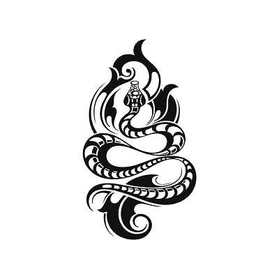 Cool Tribal Snake Tattoo Design