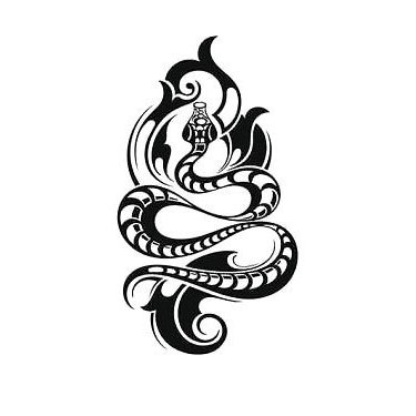 Cool Tribal Snake Tattoo
