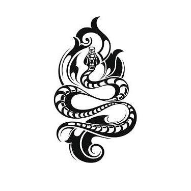 Cool Tribal Snake Tattoo