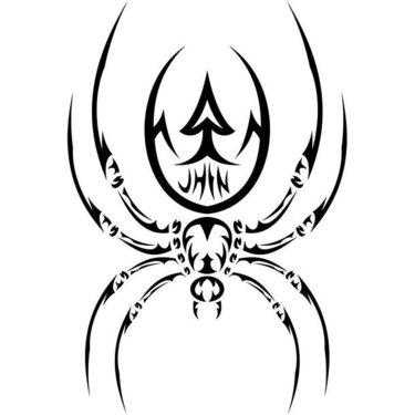 Cool Tribal Spider Tattoo