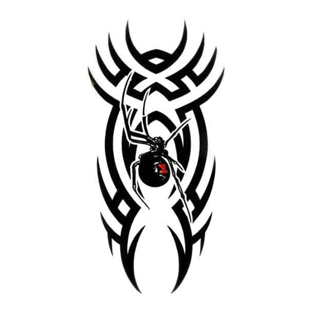 Cool Tribal Spider Black Widow Tattoo Design