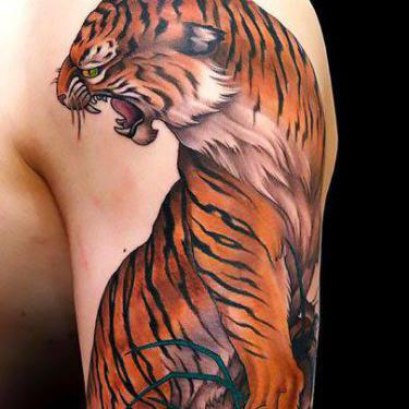 Awesome Japanese Tiger Tattoo