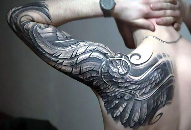 Best Eagle Wing Tattoo Idea