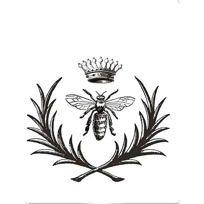 Crown Queen Bee Tattoo Design