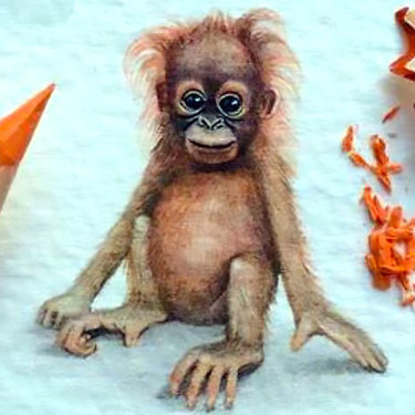 Cute Baby Monkey Tattoo
