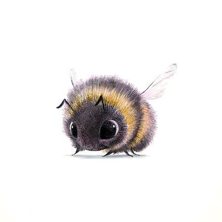 Cute Bumble Bee Tattoo Design