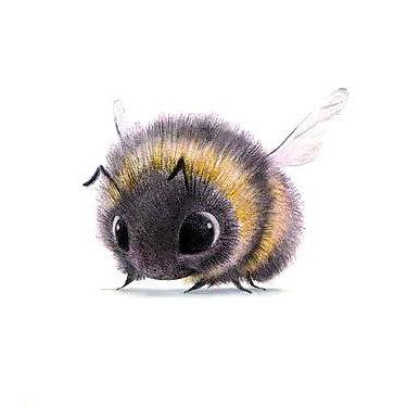 Cute Bumble Bee Tattoo