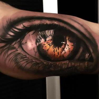 Best Eye on Bicep Tattoo