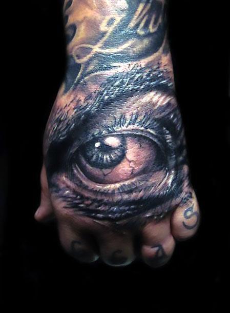Best Eye on Hand Tattoo Idea