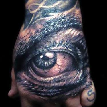Best Eye on Hand Tattoo