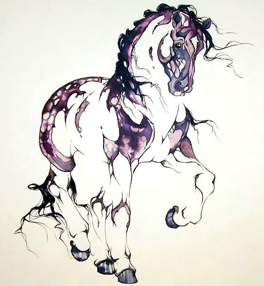 Dark Horse Tattoo Design