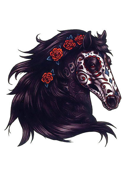 Dead Horse Head Tattoo Design