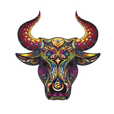 Decorative Bull Head Tattoo