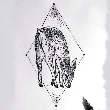 Deer Bamby Tattoo