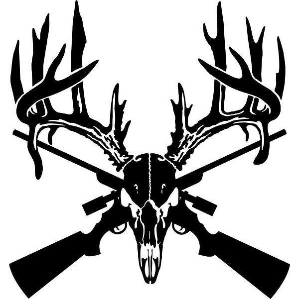 Deer Hunting Gun Tattoo Design