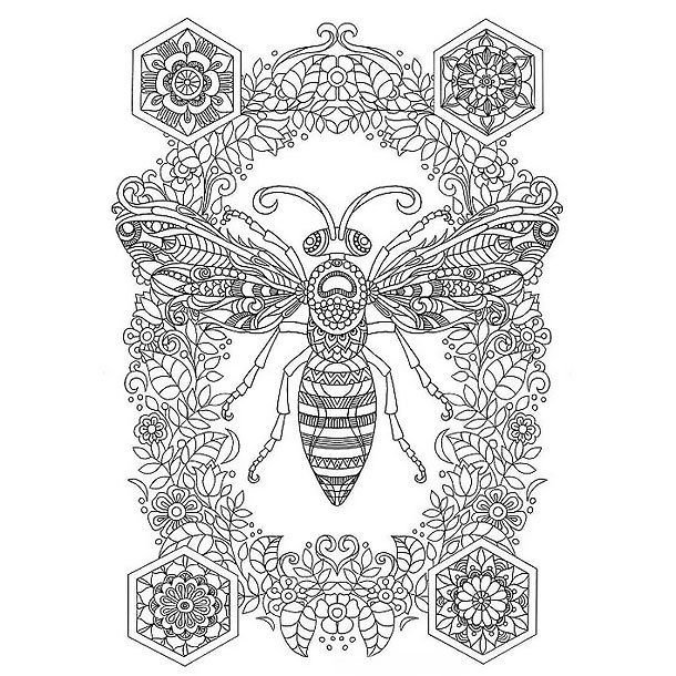 Detailed Bee Tattoo Design