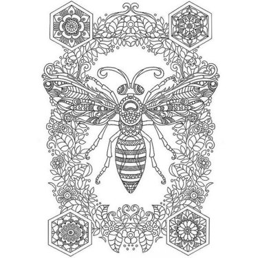Detailed Bee Tattoo
