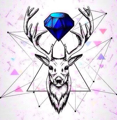 Diamond Deer Tattoo Design