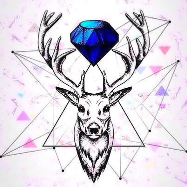 Diamond Deer Tattoo