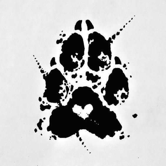 Dog Paw Print Tattoo Design