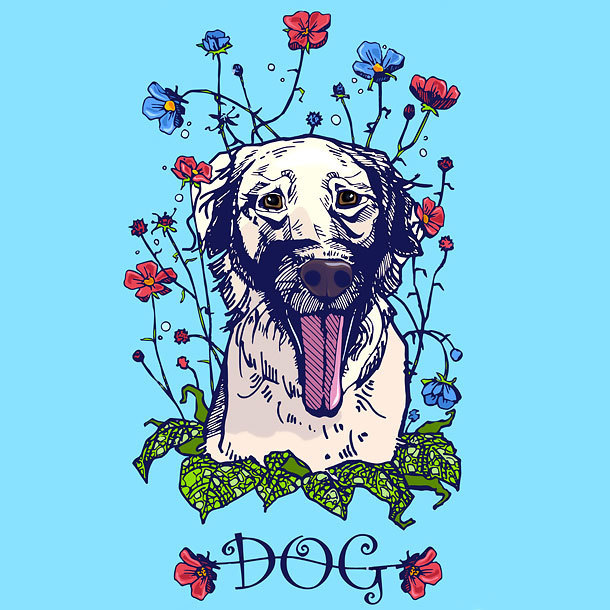 Dog Portrait Tattoo Design
