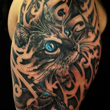 Cool Cat Tattoo