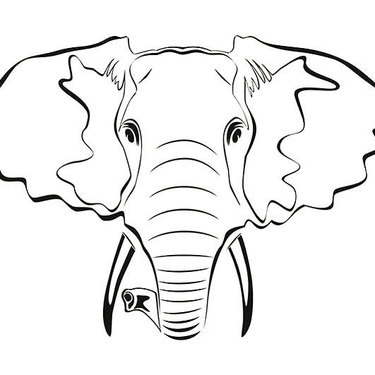 Elephant Outline Tattoo