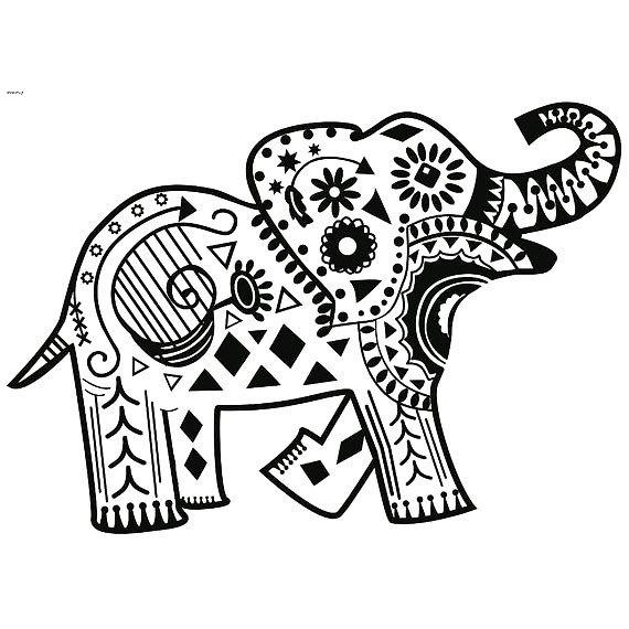 Elephant Henna Tattoo Design