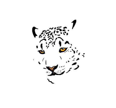 Face of Leopard Tattoo Design