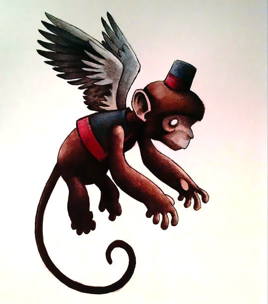 Flying Monkey Tattoo Design