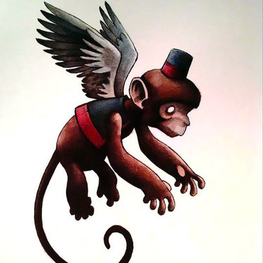 Flying Monkey Tattoo