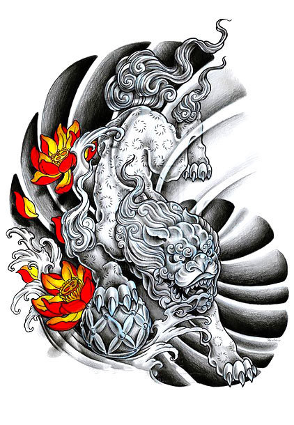 Foo Dog Original Tattoo Design