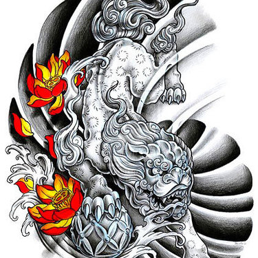 Foo Dog Original Tattoo