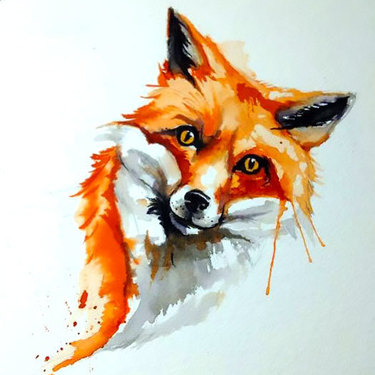 Fox Face Tattoo