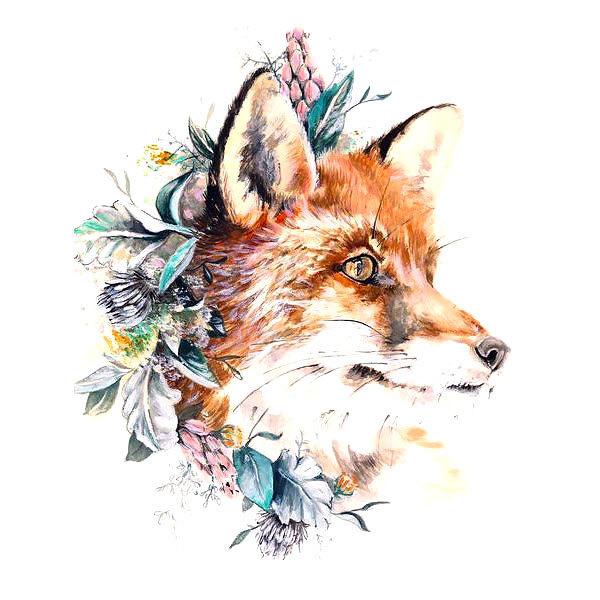 Fox Head Tattoo Design