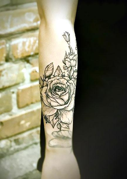 Best Flower on forearm Tattoo Idea