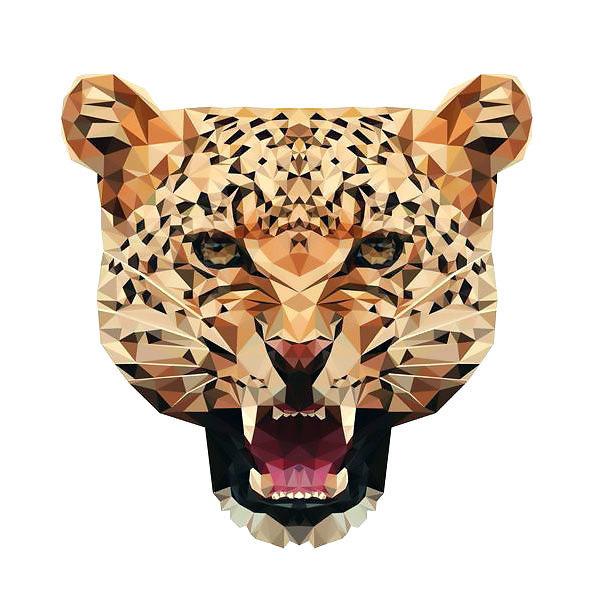 Geometric Cheetah Tattoo Design