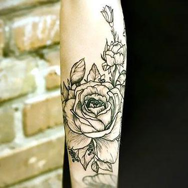 Best Flower on forearm Tattoo