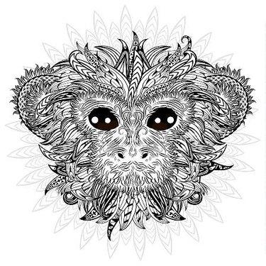 Golden Monkey Mandala Tattoo