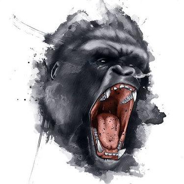 Gorilla Face Tattoo