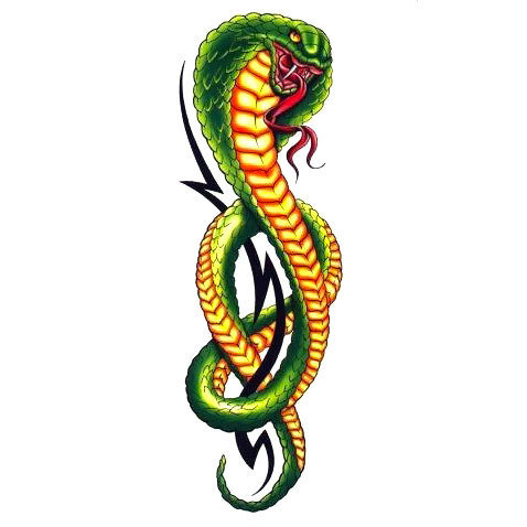 Green Cobra Tattoo Design