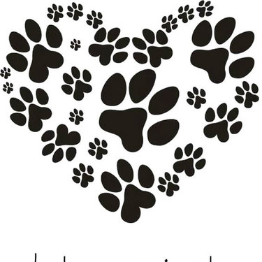 Heart Puppy Dog Paw Print Tattoo
