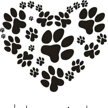 Heart Puppy Dog Paw Print Tattoo