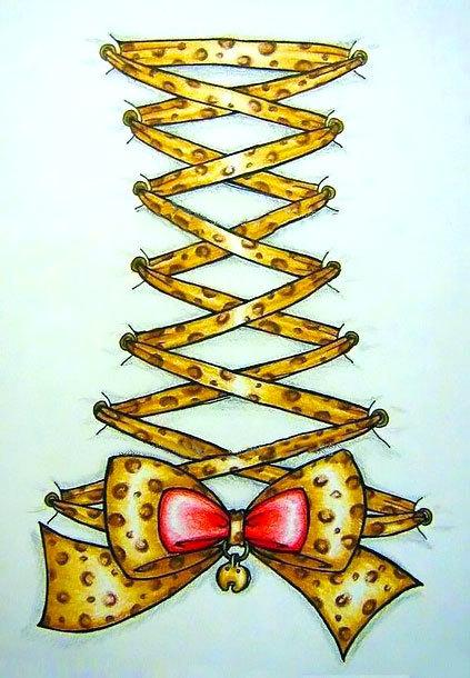 Leopard Bow Tattoo Design