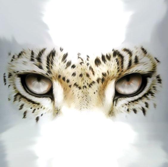 Leopard Face Eyes Tattoo Design