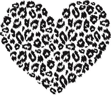 Leopard Print Heart Tattoo Design