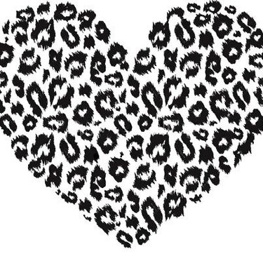 Leopard Print Heart Tattoo