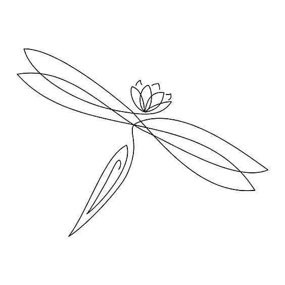 Lotus Dragonfly Tattoo Design