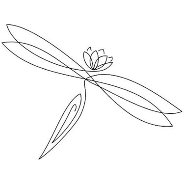 Lotus Dragonfly Tattoo
