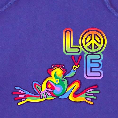 Love Peace Frog Tattoo Design